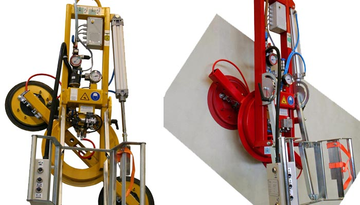 The 200 kg version of vacuum lifter 7025-MD2/E with four 388 suction cups.