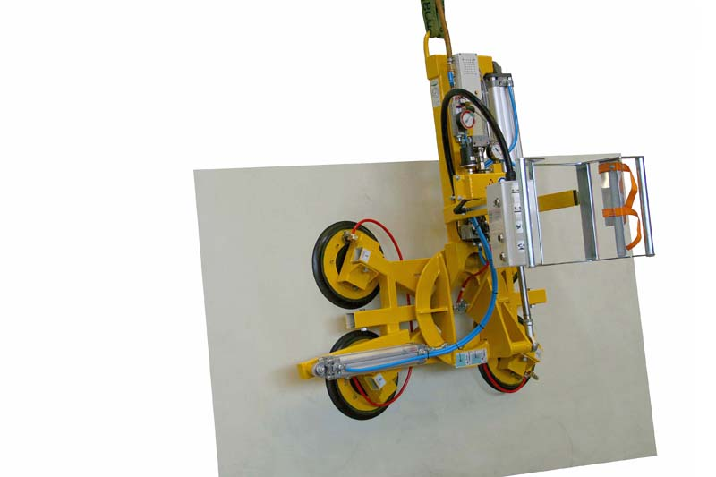 The 350 kg version of vacuum lifter 7025-MDS4/E with four 388 suction cups.