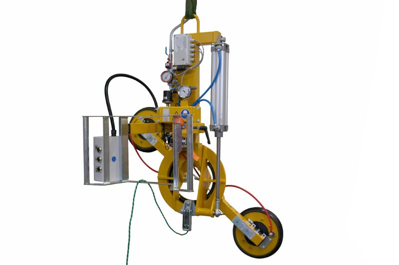 The 200 kg version of vacuum lifter 7025-MDmS4-2/E with two 388 suction cups.