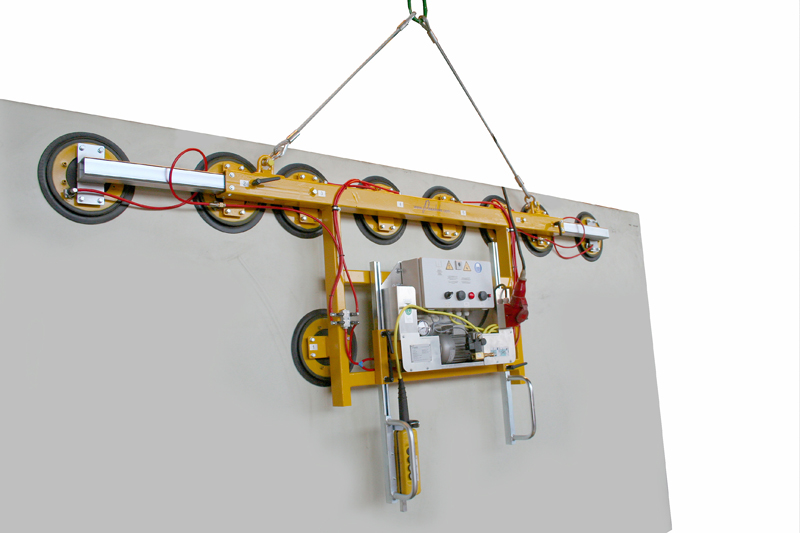 Kombi 7001-AB vacuum lifter with an extendable carrying bar (3-4 m) for a dead weight of 1000kg.